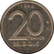 20 francs - Albert II (en français) -  revers