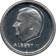 50 francs - Albert II (en français) – avers