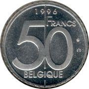 50 francs - Albert II (en français) – revers
