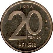20 francs - Albert II (en néerlandais) -  revers
