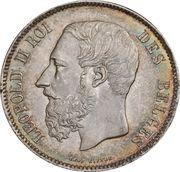 5 francs - Léopold II (petite tête) -  avers
