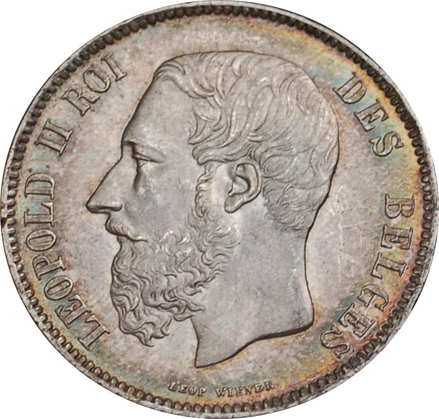 piece de monnaie leopold 2 roi des belges