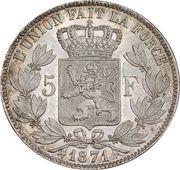 5 francs - Léopold II (petite tête) -  revers