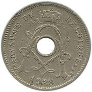 5 centimes - Albert Ier - type Michaux (en français, sans étoile) – avers