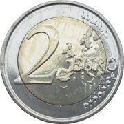 2 euros Institut royal météorologique -  revers