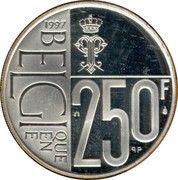250 francs - Albert II - 60 ans de la Reine Paola -  avers