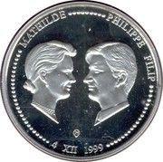 250 francs - Albert II - Philippe et Mathilde – avers