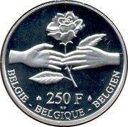 250 francs - Albert II - Philippe et Mathilde – revers