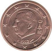 5 cents d'euro Albert II (2e type, 1ère effigie) -  avers