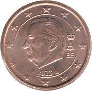 2 cents d'euro Albert II (2e type, 1ère effigie) -  avers