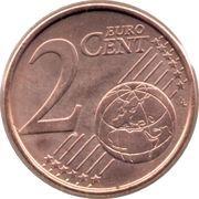 2 cents d'euro Albert II (2e type, 1ère effigie) -  revers