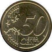 50 cents d'euro Albert II (2e carte, 1er type, 1ère effigie) – revers