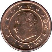 2 cents d'euro Albert II (1er type, 1ère effigie) -  avers