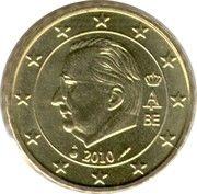 10 cents d'euro Albert II (2e carte, 2e type, 1ère effigie) -  avers