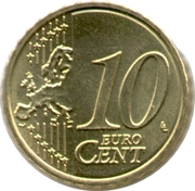 10 cents d'euro Albert II (2e carte, 2e type, 1ère effigie) -  revers