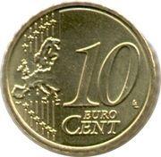 10 cents d'euro Albert II (2e carte, 2e type, 1ère effigie) -  revers