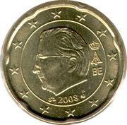 20 cents d'euro Albert II (2e carte, 2e type, 2e effigie) -  avers