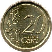 20 cents d'euro Albert II (2e carte, 2e type, 2e effigie) -  revers