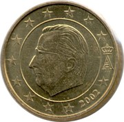 50 cents d'euro Albert II (1ère carte, 1er type, 1ère effigie) -  avers