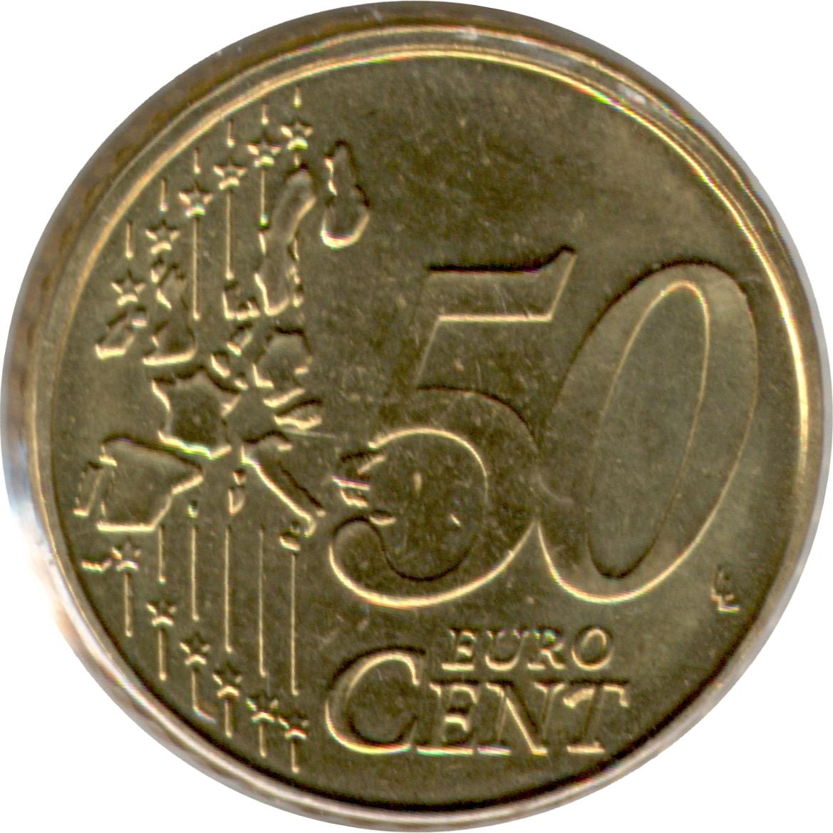 50 cents d 39 euro albert ii 1 re carte 1er type 1 re for Cuisine 7000 euros
