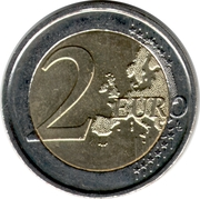 2 euros Albert II (2e carte, 2e type, 1ère effigie) -  revers