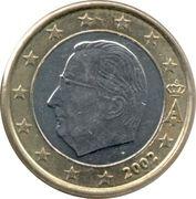 1 euro Albert II (1ère carte, 1er type, 1ère effigie) -  avers