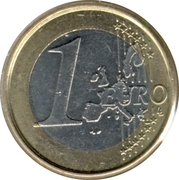 1 euro Albert II (1ère carte, 1er type, 1ère effigie) -  revers
