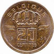 20 centimes - type Mineur (en français) -  revers