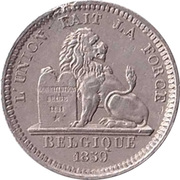 5 centimes - Léopold I (Essai) – revers