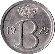 25 centimes - Baudouin Ier (en néerlandais) -  avers