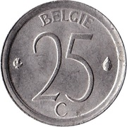 25 centimes - Baudouin Ier (en néerlandais) -  revers