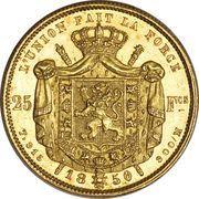 25 francs Or - Léopold Ier (tête nue) -  avers