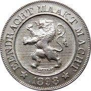 10 centimes - Léopold II (en néerlandais) – avers