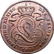 1 centime - Léopold II (en néerlandais) – avers