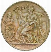 Module de 5 centimes - 25e Anniversaire de l'inauguration du Roi Léopold Ier (Néerlandais) – avers