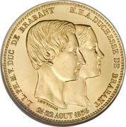 Module de 100 francs (mariage du duc de Brabant) – revers