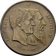 5 francs - Léopold II (50ème anniversaire de la Belgique) – avers