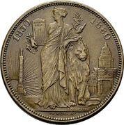 5 francs - Léopold II (50ème anniversaire de la Belgique) – revers