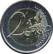 2 euros Child Focus -  revers