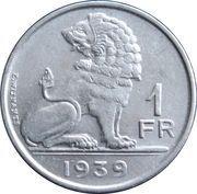 1 franc - Léopold III (Belgique Belgie) -  revers