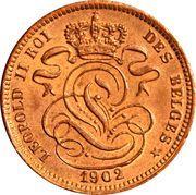1 centime - Léopold II (en français) – avers