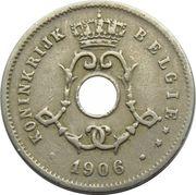 5 centimes - Léopold II - type Michaux (en néerlandais, grande date) -  avers