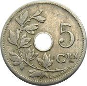 5 centimes - Léopold II - type Michaux (en néerlandais, grande date) -  revers