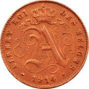 1 centime - Albert Ier (en français) – avers