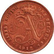 1 centime - Albert Ier (en néerlandais) – avers