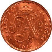 2 centimes - Albert Ier (en français) -  avers