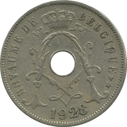 25 centimes - Albert Ier - type Michaux (en français) -  avers