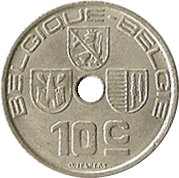 10 centimes - Léopold III (Belgique-Belgie) -  revers
