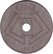 25 centimes - Léopold III - type Jespers (Belgique-Belgie) -  avers