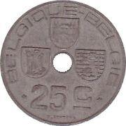 25 centimes - Léopold III - type Jespers (Belgique-Belgie) -  revers